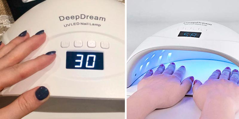 DeepDream UV LED Nail Lamp Professional Fast for Gel Nails in the use