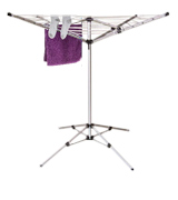 Oypla Rotary Airer Portable Washing 15m 4 Arm Lightweight Free Standing Aluminium