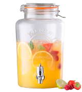 Kilner Drinks Dispenser Clip Top Round Glass