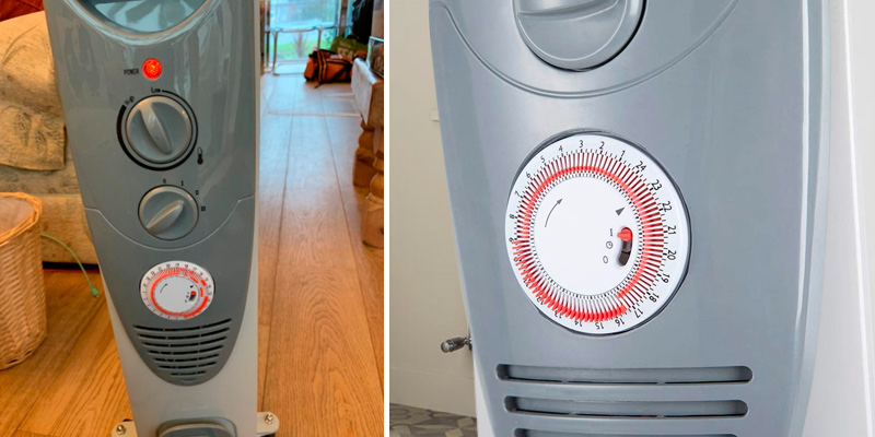 PureMate Oil Filled Radiator Portable Electric Heater in the use