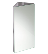 iBathUK 6111 BATHROOM MIRROR Stainless Steel Corner Cabinet Modern Storage Unit MC101