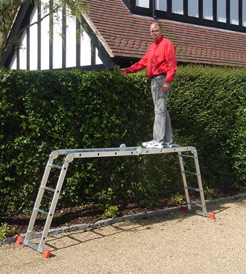Review of BPS Access Solutions 4x4 Rung Multi Purpose Ladder with free Extra Strong 2-part platform