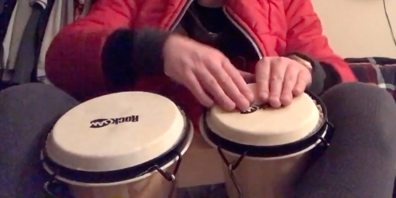 "Review of RockJam 100300 7"" & 8"" Bongo Drum Set with Padded Bag, Natural"