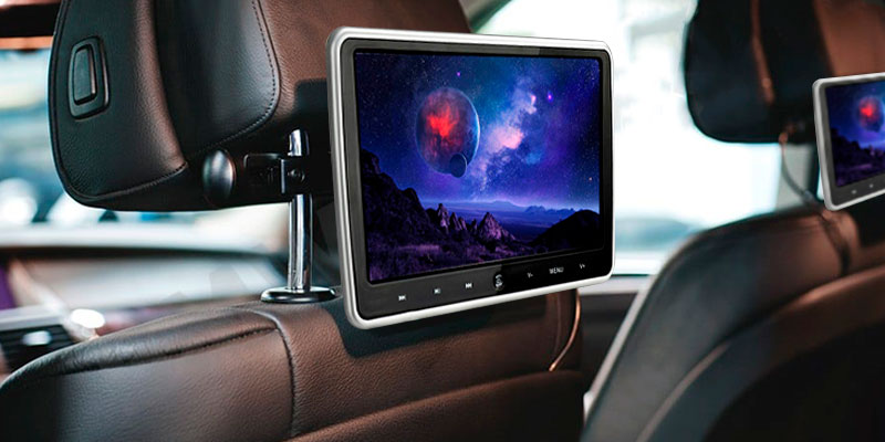 WZMIRAI wz-DVD2 10.1-Inch Car Portable DVD Player in the use