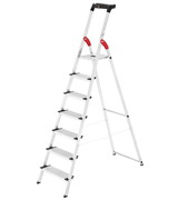 Hailo 8040-707 Safety Ladder, 7 steps, Multifunction Tray