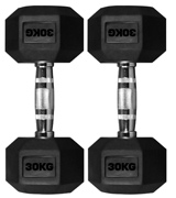 TNP Products Rubber Hexa Hex Dumbbells
