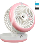 Feifuns Portable 4 Speeds Mini USB Fan Cooling Mist Table Fan