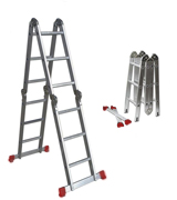 BPS Access Solutions 4x4 Rung Multi Purpose Ladder with free Extra Strong 2-part platform