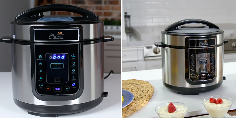 Pressure King Pro PKP5LCH Electric Pressure Cooker in the use