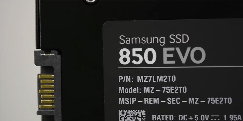 Samsung 850 EVO SSD Drive in the use