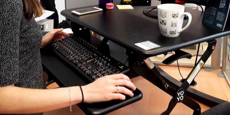 Detailed review of Yo-Yo Desk 90 BLACK Adjustable Standing Desk