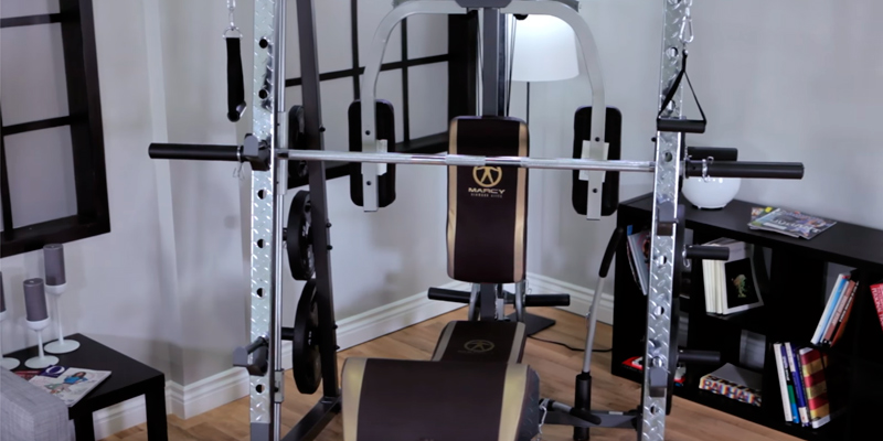 Review of Marcy MD-9010G Home Gym Smith Machine with Weight Bench