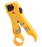 CSTOM 200359 Cable Stripper Cutter for Round / Flat UTP Cat5 Cat6 Coax Coaxial Wire Stripping Universal Tool