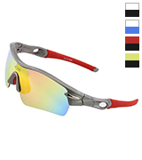 Duco DC-0026-01-UK Polarized Sports Sunglasses with 5 Interchangeable Lenses