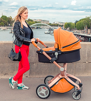Review of Hot Mom Pushchair 2017 3 in 1 Baby Stroller Travel System
