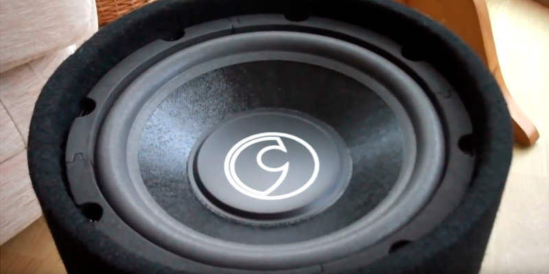 Bass Face BASS10.1 10 inch 1100W Bass Tube Compact Car Subwoofer Enclosure in the use