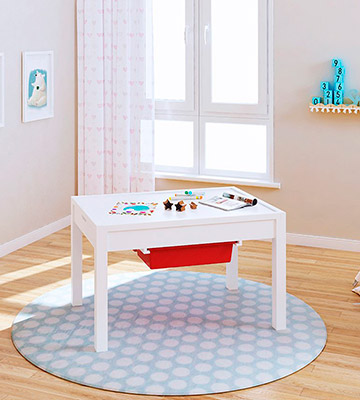 Review of UTEX 2-In-1 Kid Activity Table with storage compartment