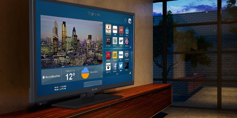 Digihome 24273SFVPT2HD HD Ready Smart LED TV in the use