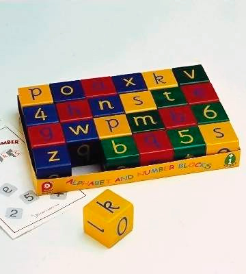Review of Pintoy 59051 Wooden Alphabet & Number Blocks