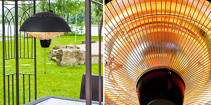 DONYER POWER Electrical Patio Heater in the use