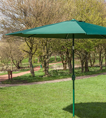 Review of Alfresia Aluminium Round Wind up Garden Parasol Sun Shade Patio Outdoor Umbrella 2.5m