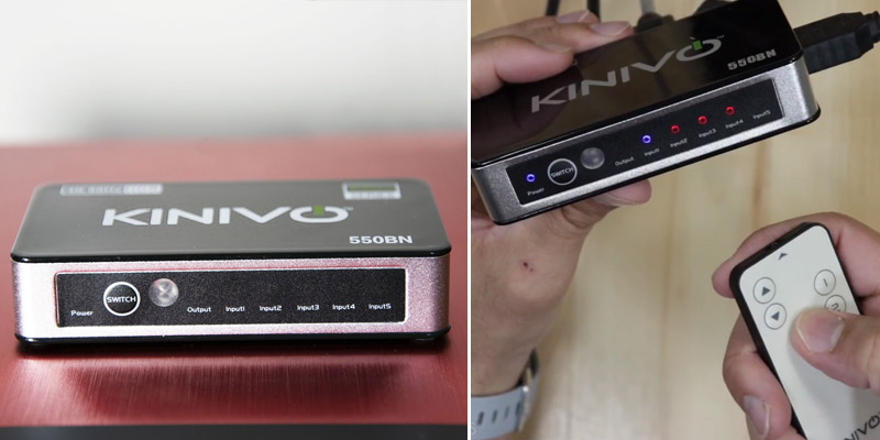 Review of Kinivo (550BN) 4K@60Hz Premium 5-Port HDMI Switch with Remote Control
