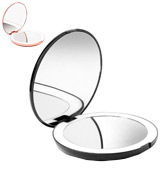 Fancii 1X/10X Magnification LED Lighted Travel Makeup Mirror