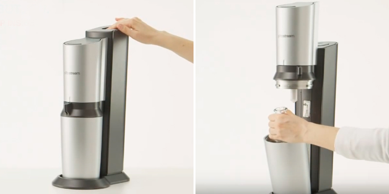 SodaStream Crystal Sparkling Water Maker in the use