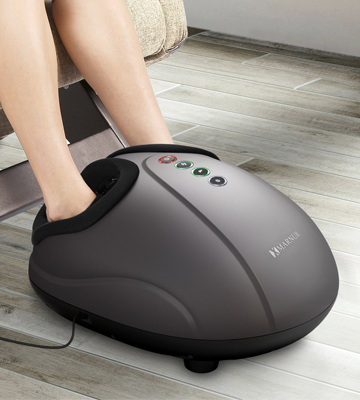 Review of Marnur Foot Massager Shiatsu Massage with Heat Rolling and Air Compression