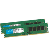 Crucial Green 16GB (2 x 8GB) (DDR4, 2400 MT/s, PC4-19200, DR x8, DIMM, 288-Pin)