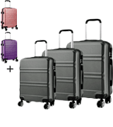 Kono 3pcs 20 24 28 Lightweight Luggage Set