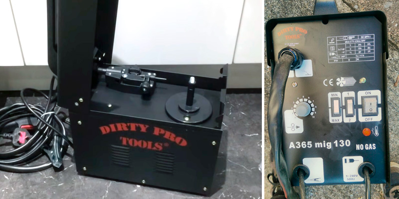 Dirty Pro Tools Mig 130 Welder in the use