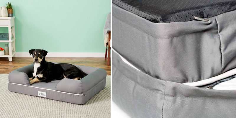 PetFusion PF-IBL1 Memory Foam, Waterproof liner in the use