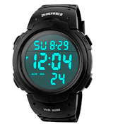 SKMEI Mens Sports Digital Watches Outdoor Waterproof Sport Watch with Alarm/Timer