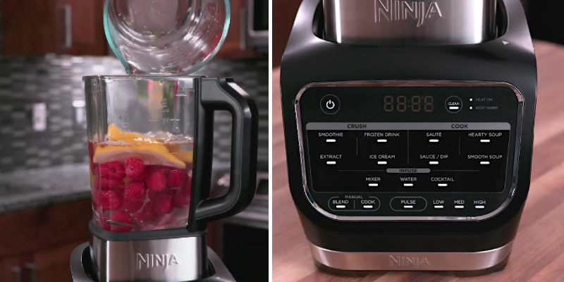 Ninja HB150UK Blender and Soup Maker with glass jug in the use