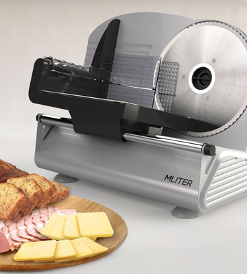 Review of MLITER 19cm Stainless Steel Blade 150W Electric Food Slicer