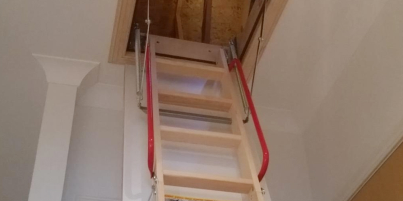 Review of BPS Access Solutions Deluxe Wooden Loft Ladder with Twin Handrails