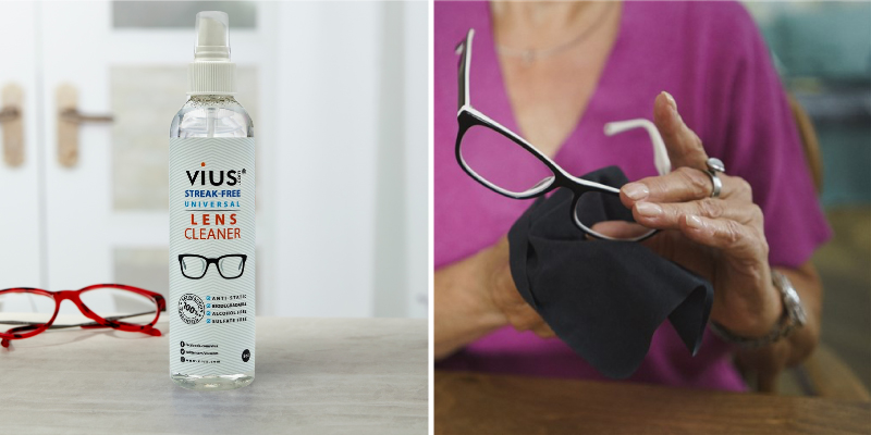 Review of vius _Lens Cleaner 8oz for Eyeglasses, Glasses