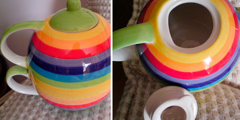 Review of Windhorse Rainbow Striped Ceramic Tea for One Set