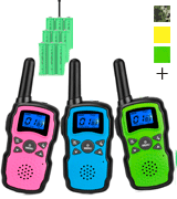 Wishouse 3-Pack Rechargeable with USB Charger Battery Kids Walkie Talkies