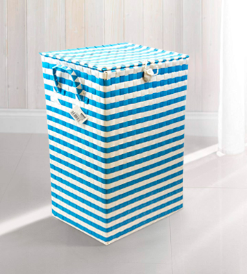 Review of ARPAN Washing Laundry Plastic bin Hamper Storage Basket Blue-White
