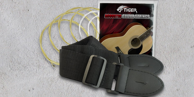 Tiger Music Sunburst Electro Acoustic Guitar Pack in the use