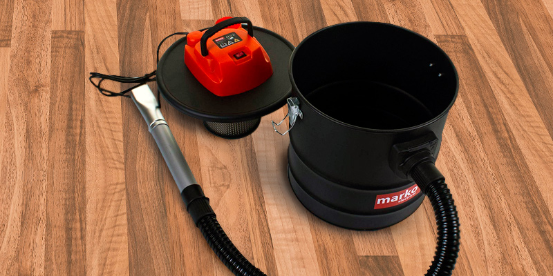 Review of Marko Electrical Ash Vacuum Hoover Fireplace Cleaner Wood Burner Fire Pits Bagless Debris