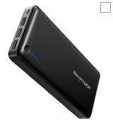 RAVPower UK RP-PB41(B) 26800mAh Portable Phone Charger 3-Port 5.5A iSmart Output Battery Pack