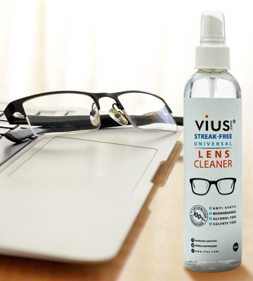 Review of vius Lens Cleaner 8oz for Eyeglasses, Glasses