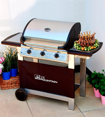 Review of Fire Mountain JE03710401 3 Burner Gas Barbecue