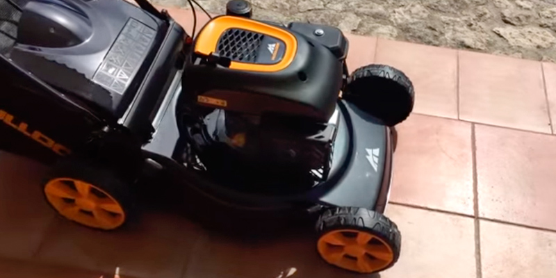 McCulloch M46-110R Petrol Rotary Lawnmower in the use