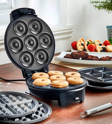 Review of VonShef 3-in-1 Waffle Maker, Brownie & Doughnut Maker