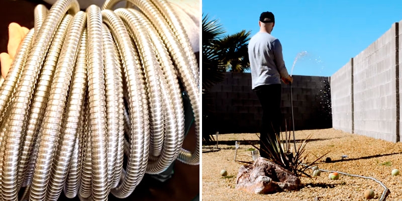 Review of HIGH GRAND 100FT Stainless Steel Garden Hose With Free Nozzle
