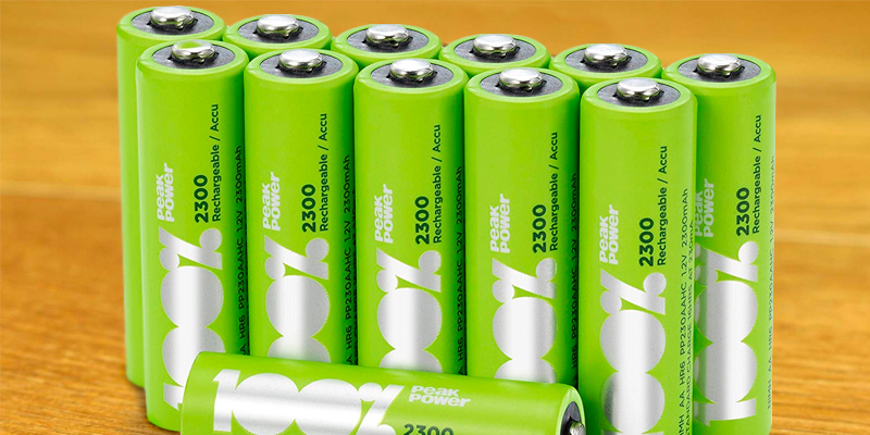 Review of 100%PeakPower AA Pack of 12 Rechargeable 2300mAh